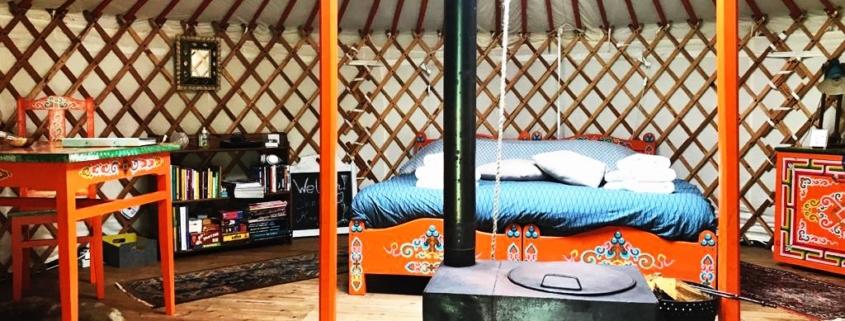 Yurt in de Achterhoek, Gelderland, Nederland.