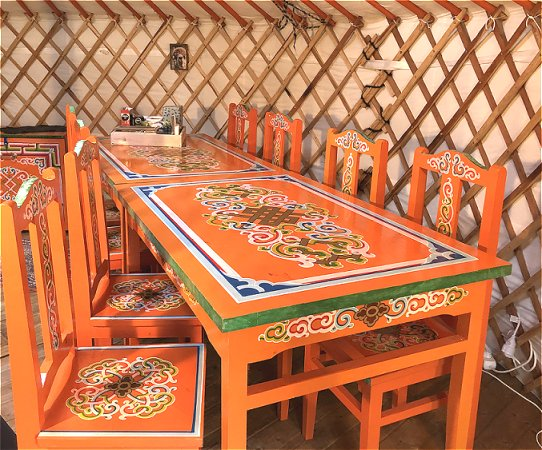 Exquisite meeting location or workshop space, in a yurt
