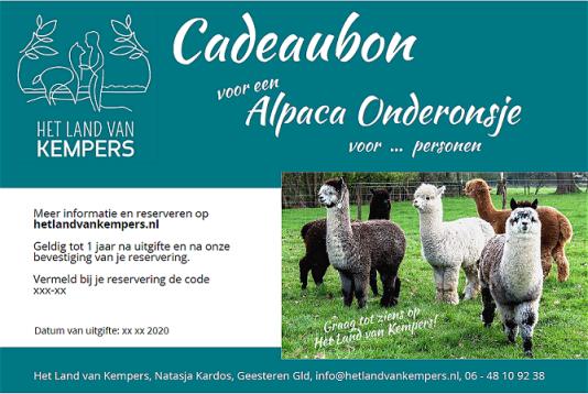 Cadeaubon Alpaca meet and greet, Achterhoek, Gelderland