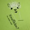 t-shirt-alpaca-knuffelen-nu-even-niet-kinderen-ronde hals-appeltjesgroen