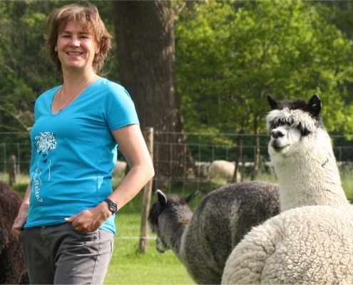 Alpaca knuffelen - t-shirt - goede doel