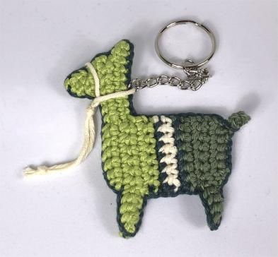 alpaca sleutelhanger, groen, achterhoek, vlag