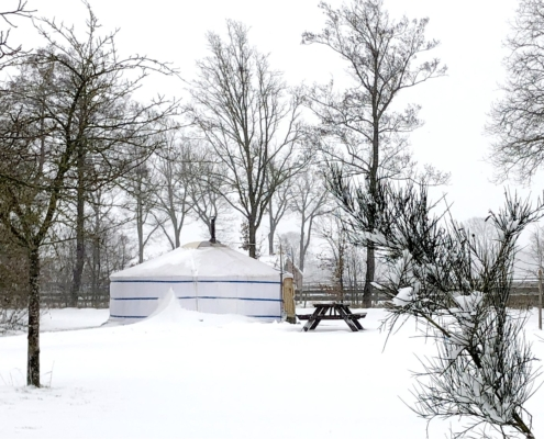 Yurt, Nederland, winter, winterkamperen, bed and breakfast, vakantie in eigen land
